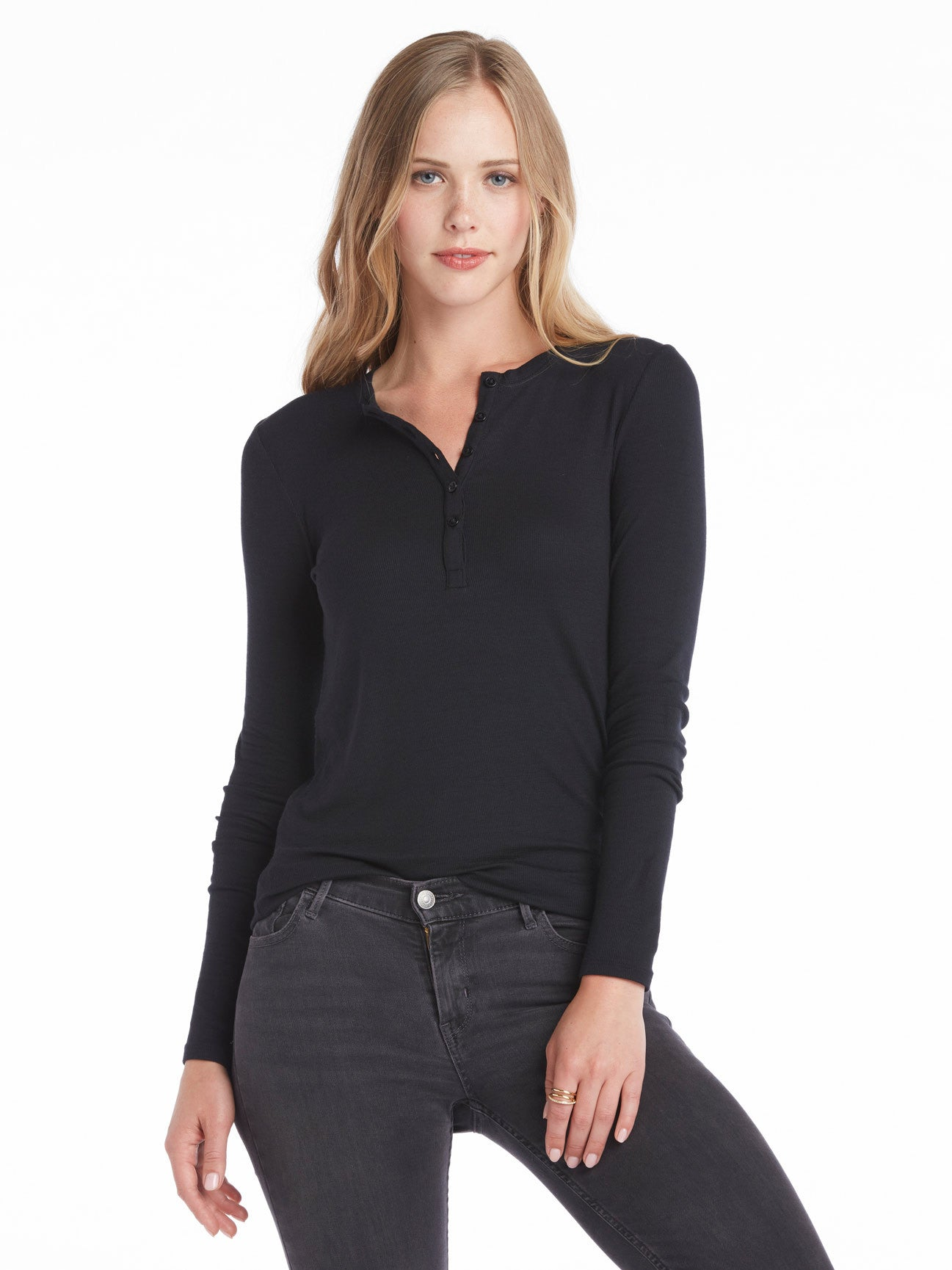 ATM Anthony Thomas Melillo Modal Rib Long Sleeve Henley | TILDEN