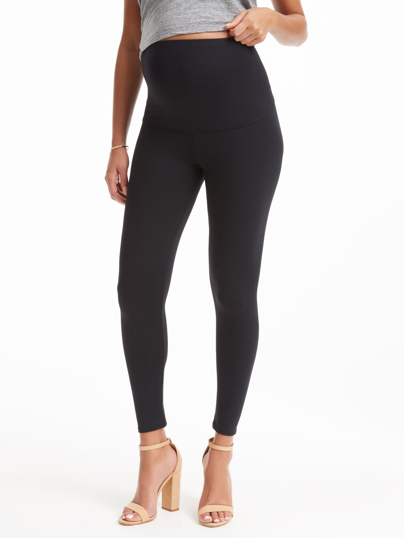 9b2f0746ebcad David Lerner Women's Maternity Full-Length Leggings - Black | TILDEN