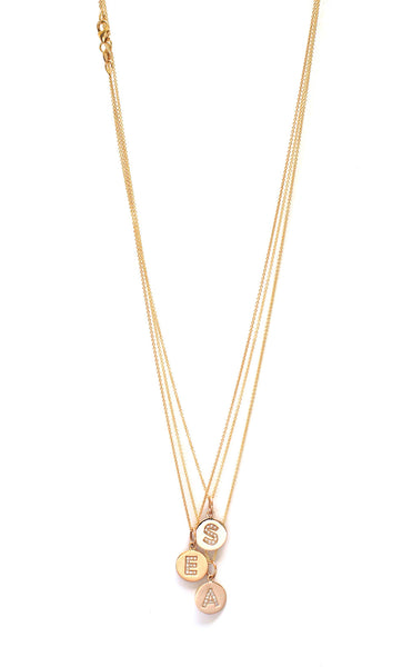 Jennifer Tuton Diamond and Gold Initial Necklace | TILDEN