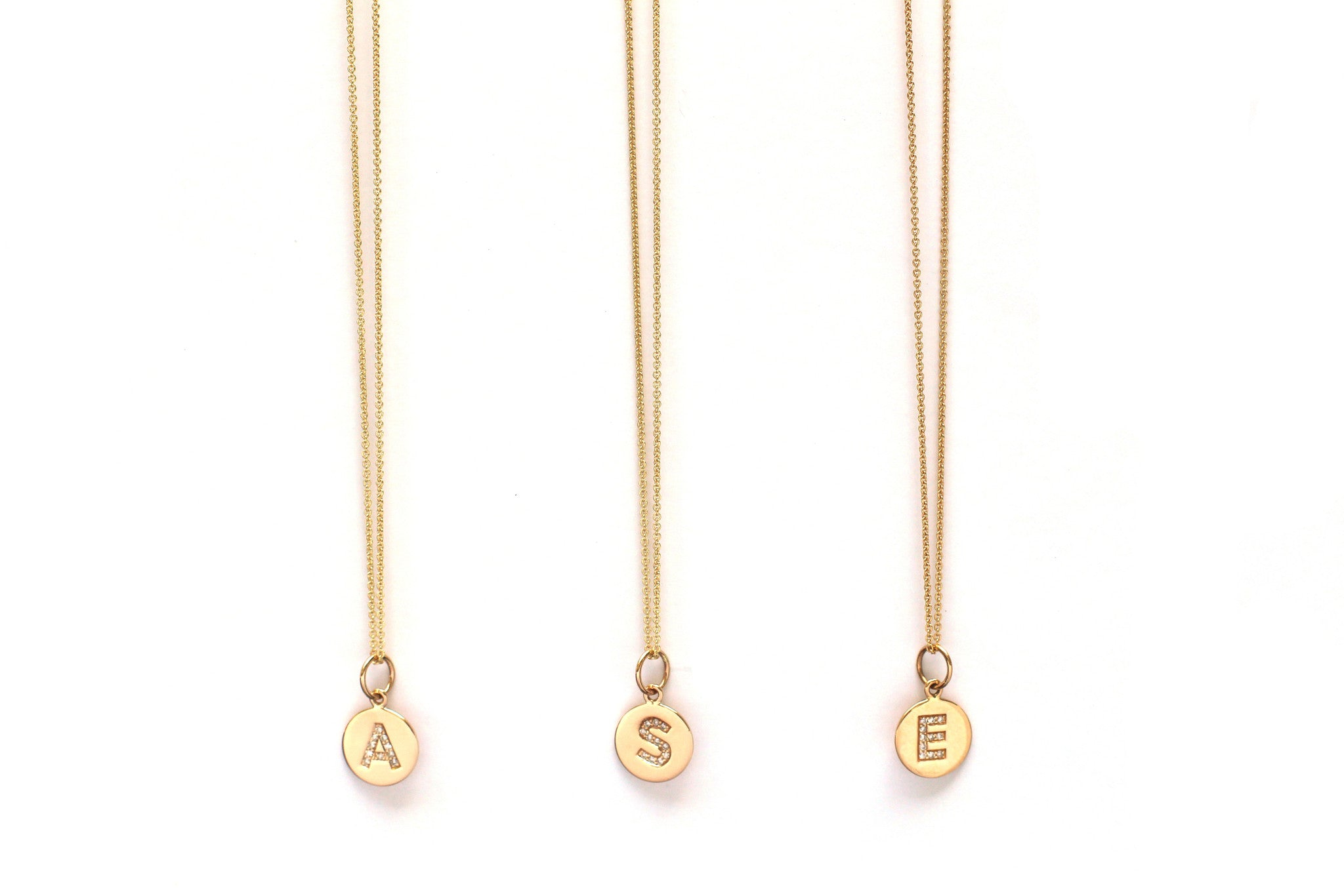 TILDEN | Jennifer Tuton Diamond and Gold Initial Necklace