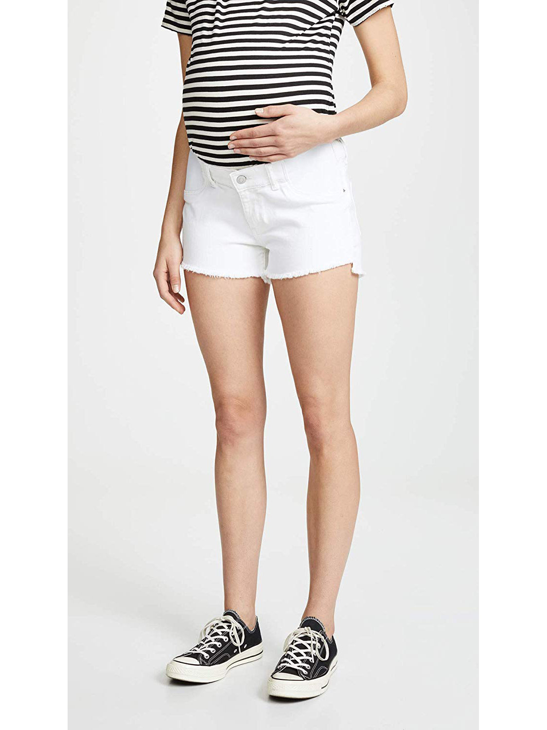 TILDEN | DL1961 Renee Maternity Jean Shorts - Precision