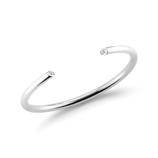 Elizabeth and James Obi Bangle - Silver | TILDEN