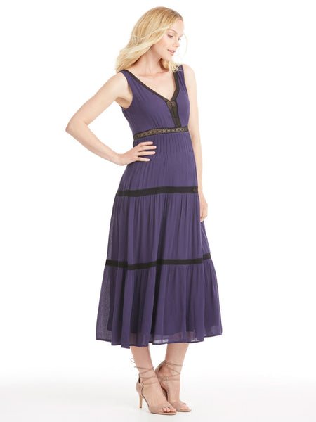 Ella Moss Katella Lace Maxi Dress - Navy | TILDEN