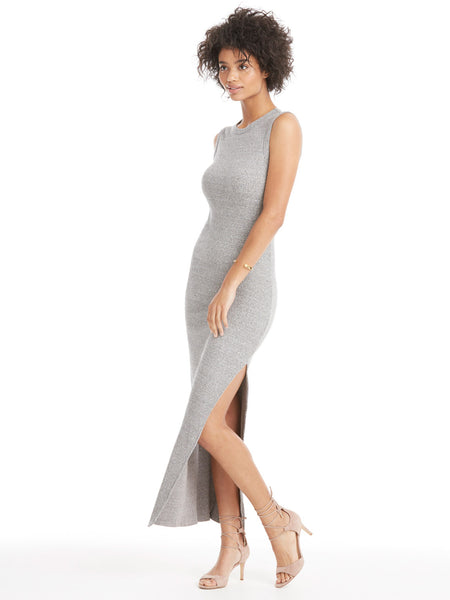 Enza Costa Muscle Maxi Slit Dress | TILDEN