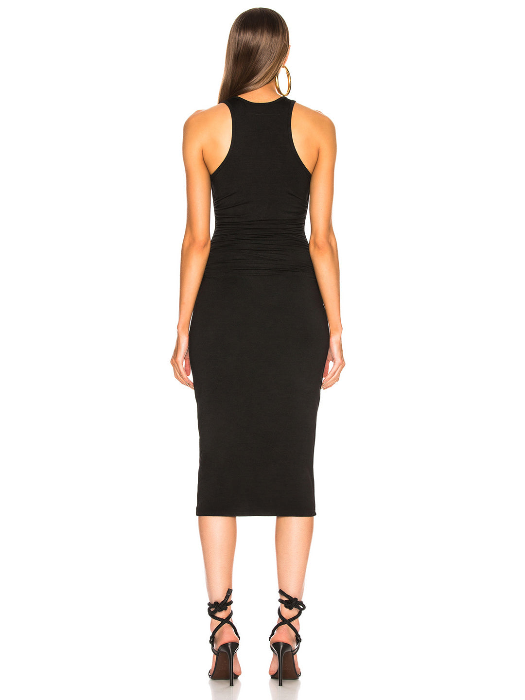 TILDEN | Enza Costa Sheath Tank Side Ruched Midi Dress