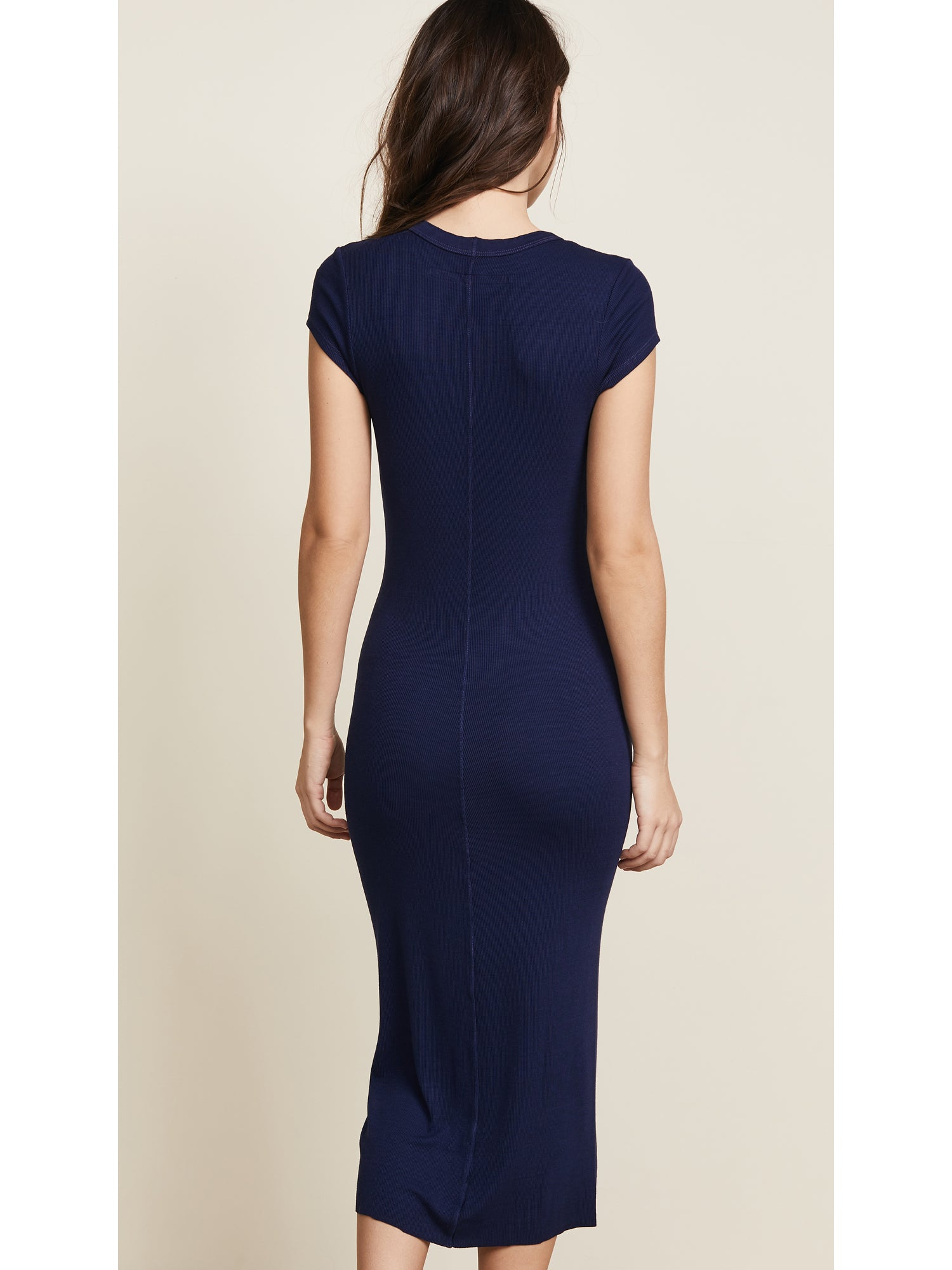 TILDEN | Enza Costa Rib Cap Sleeve Dress