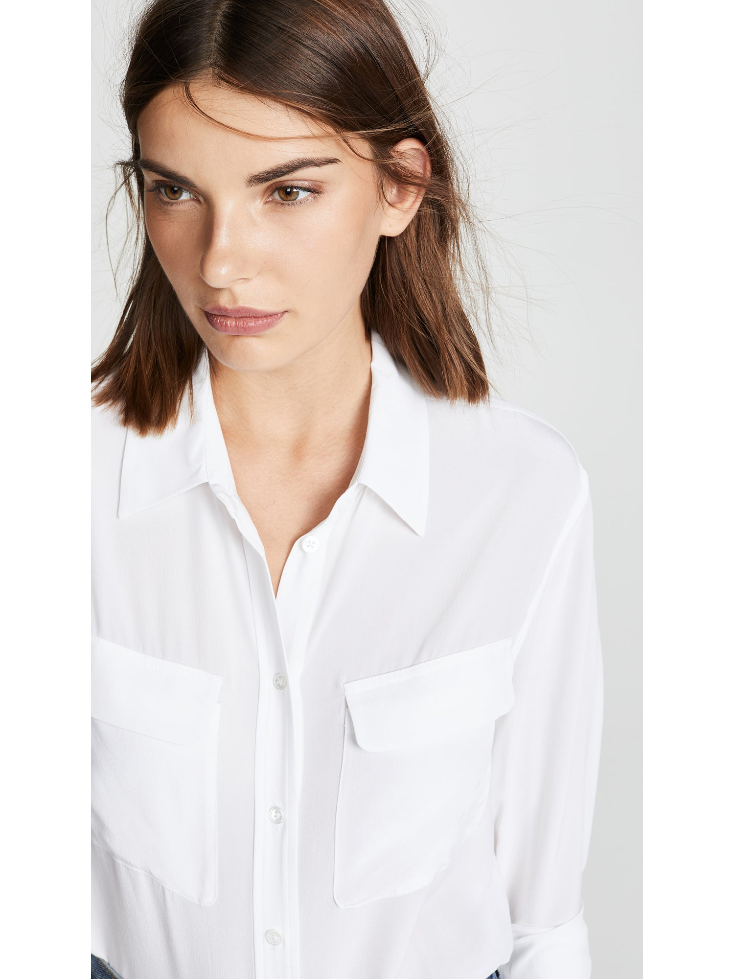 TILDEN | Equipment Signature Silk Top