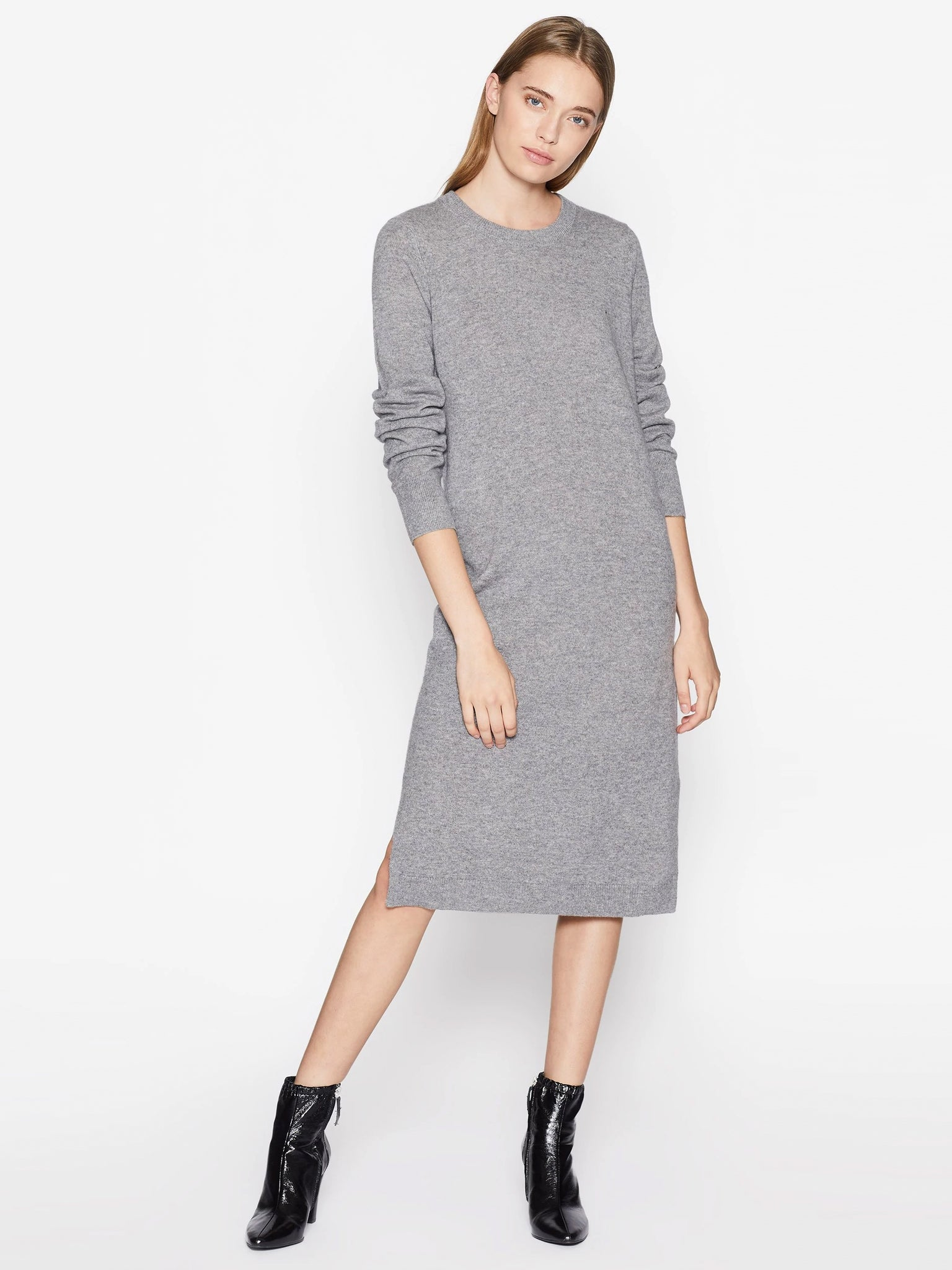 Equipment Snyder Cashmere Sweater Dress - Heather Grey | TILDEN