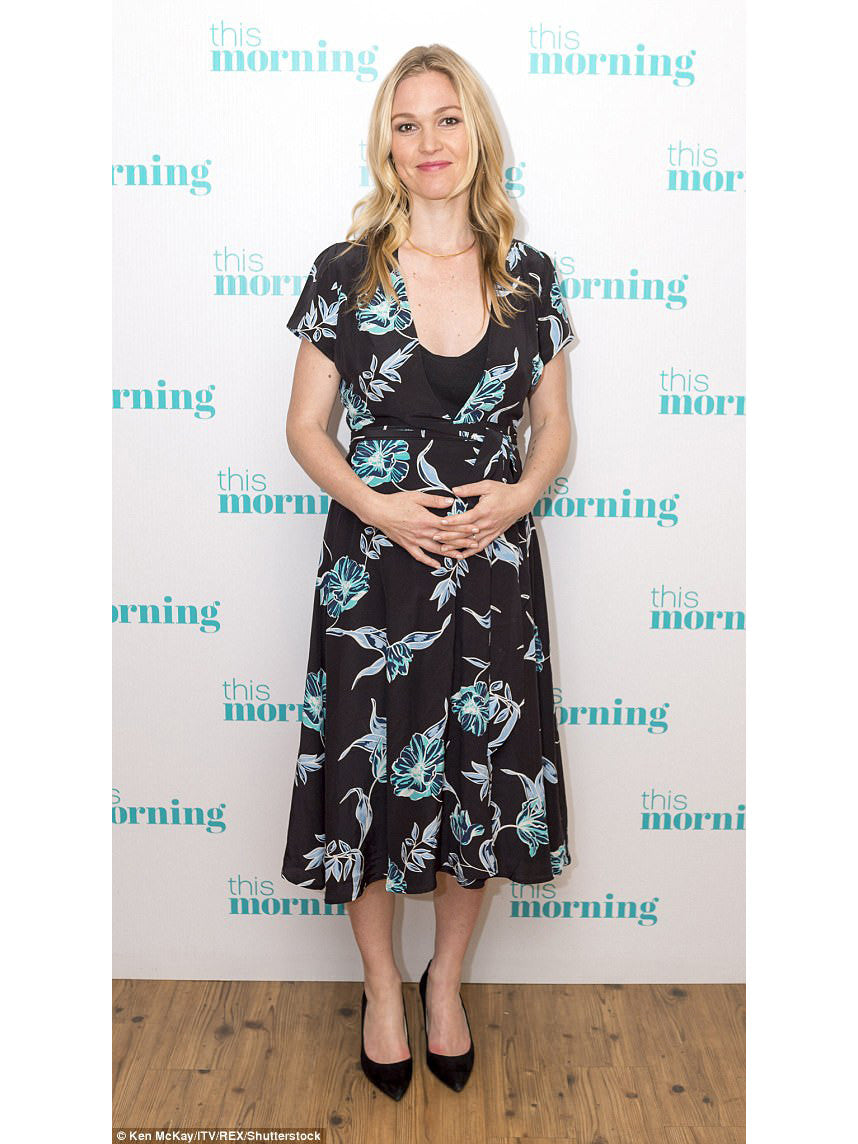 Julia Stiles Designer Maternity Style - Yumi Kim Spin Me Around Dress - Hello Beautiful Black | TILDEN