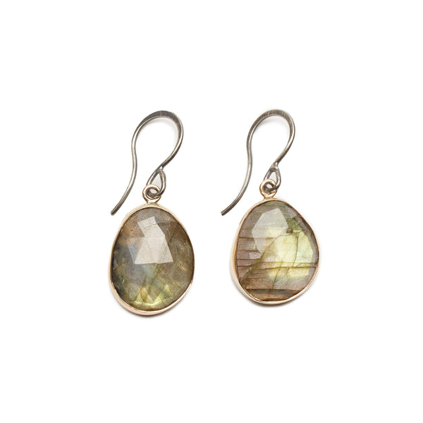 Melissa Joy Manning Bezel Set Labradorite Earrings | TILDEN