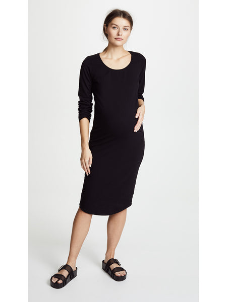 Monrow Long Sleeve Dress - Black | TILDEN