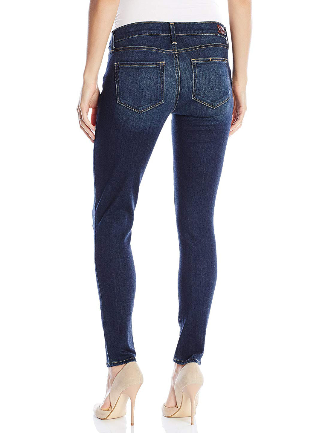 Paige Verdugo Maternity Skinny Jeans Nia Destructed Dark Wash | TILDEN