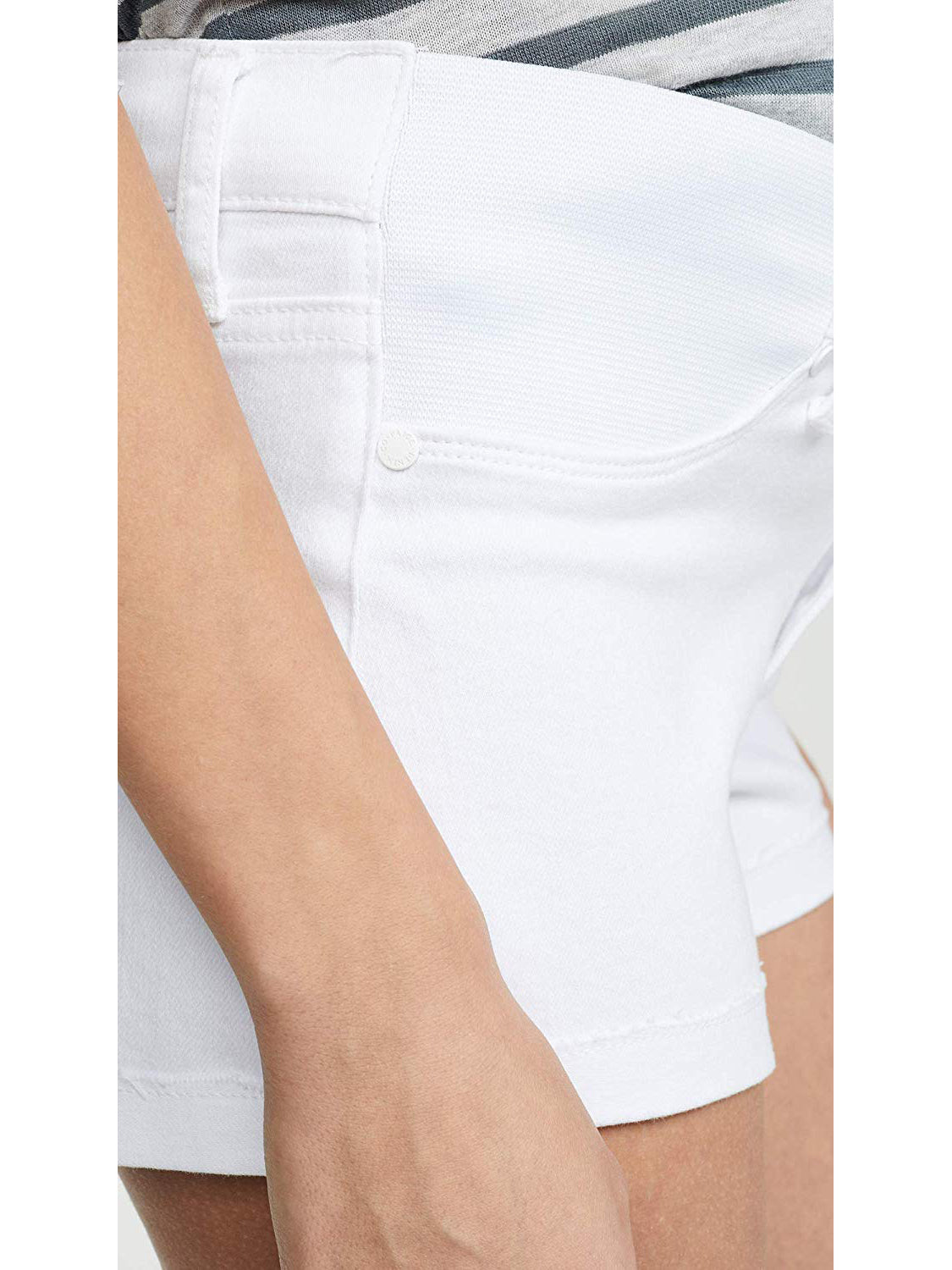 Paige Jimmy Jimmy Maternity Jean Shorts - Crisp White | TILDEN