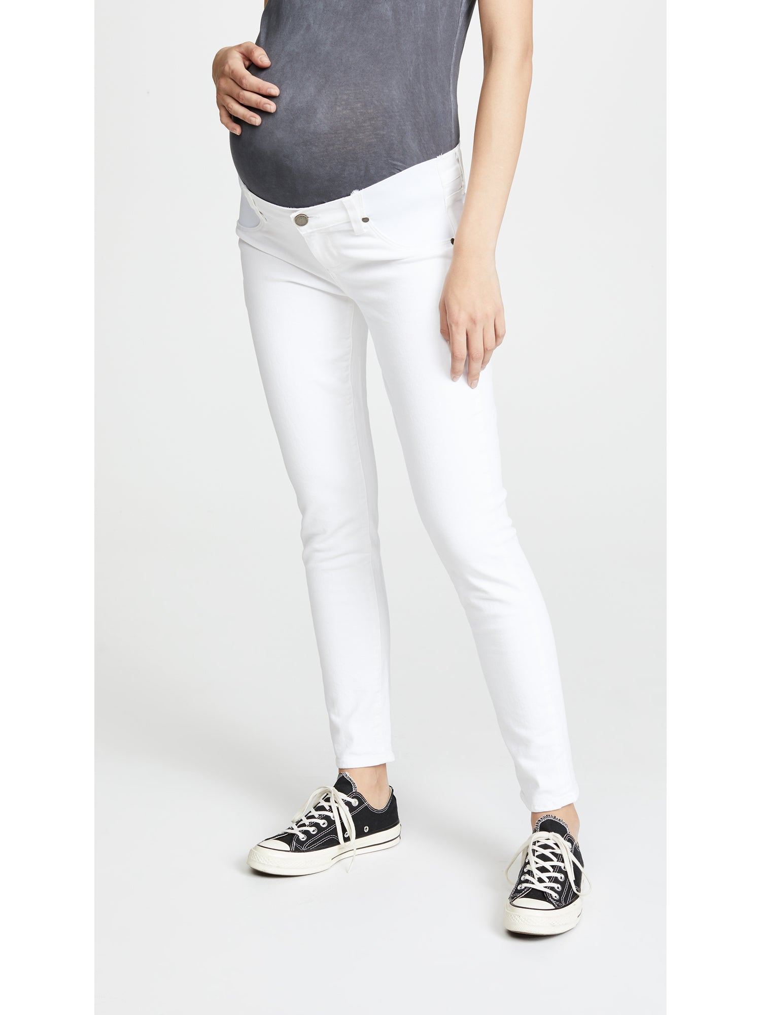 0826ce6147e Paige Skyline Skinny Ankle Maternity Jeans - Optic White | TILDEN