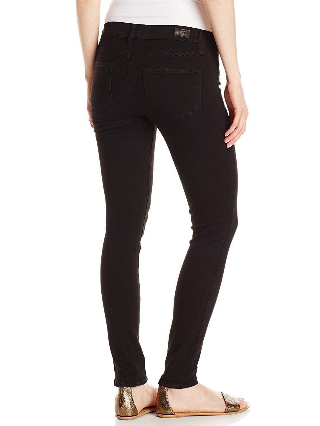 Paige Verdugo Skinny Maternity Jeans - Black Shadow | TILDEN