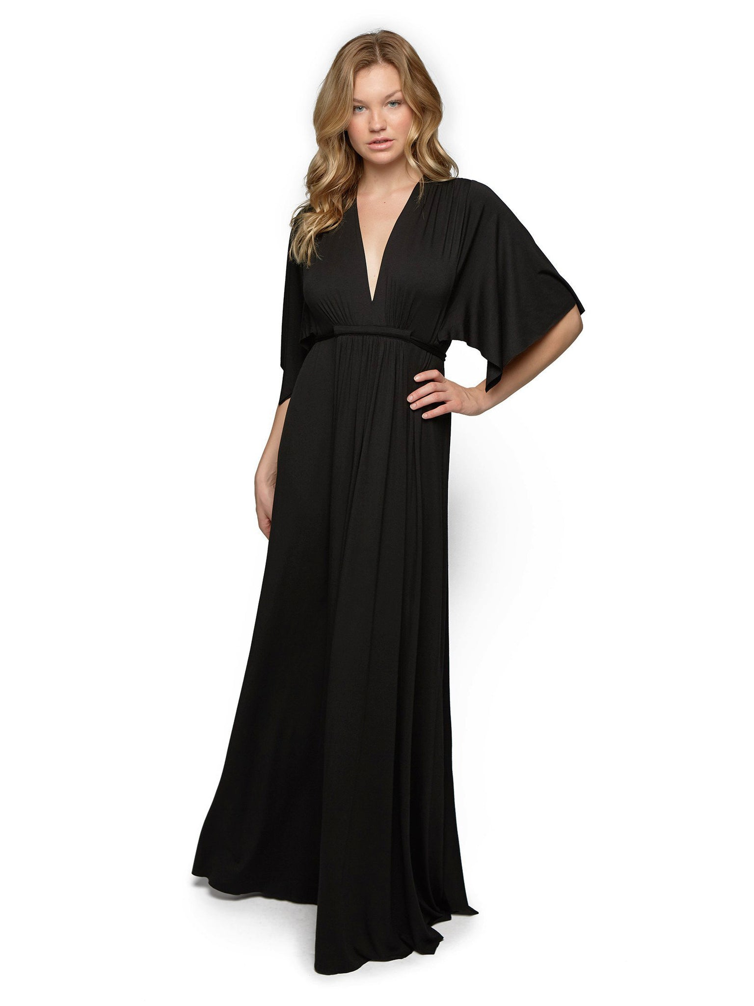Rachel Pally Long Caftan - Black | TILDEN