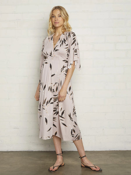 Rachel Pally Maternity Mid-Length Caftan Dress - Cane Pink Floral Print | TILDEN