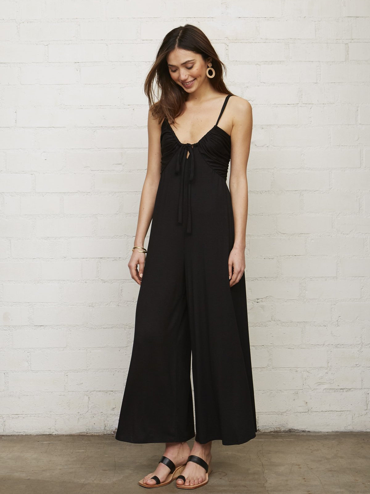 Rachel Pally Brooks Wide Leg Jumpsuit - Black | TILDEN