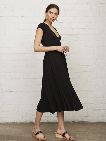 Rachel Pally Frankie Wrap Dress - Black | TILDEN