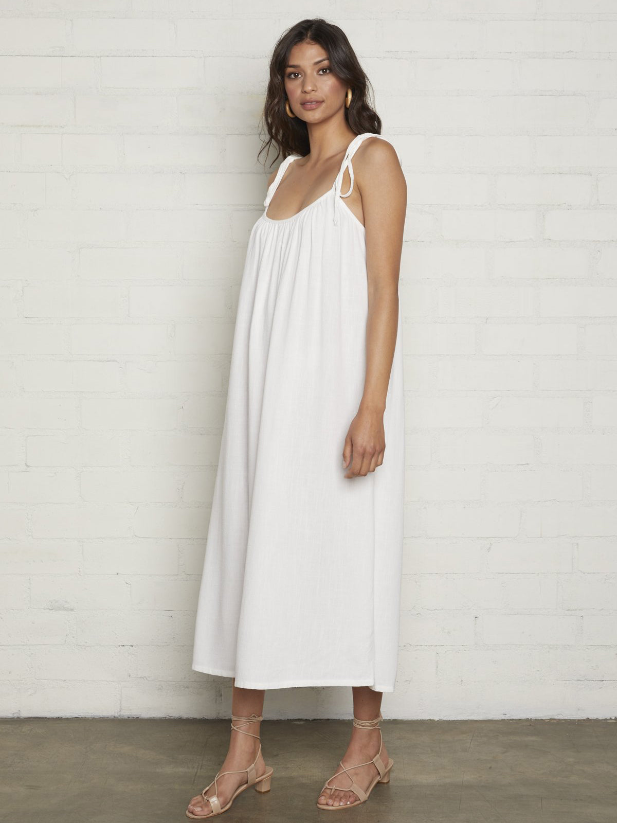 Rachel Pally Linen Caity Dress - Chalk White | TILDEN