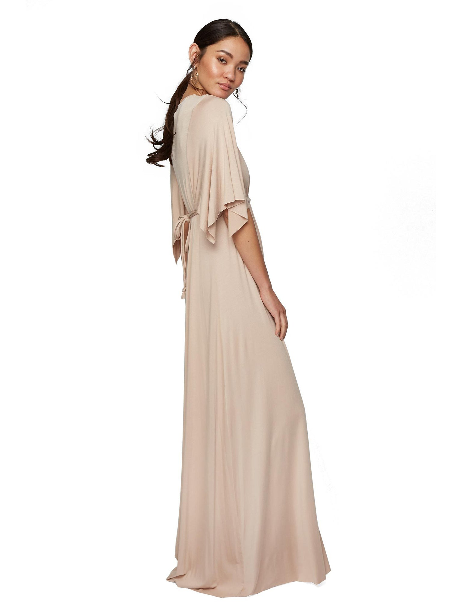Rachel Pally Maternity Long Caftan Maxi Dress - Bamboo Cream | TILDEN