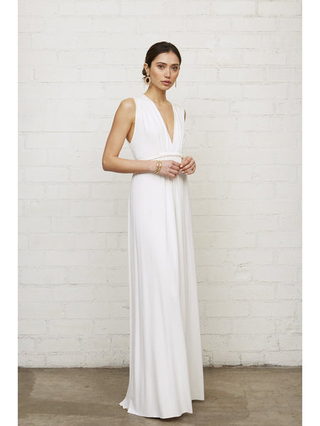 Rachel Pally Sleeveless Caftan Maxi Dress - White | TILDEN