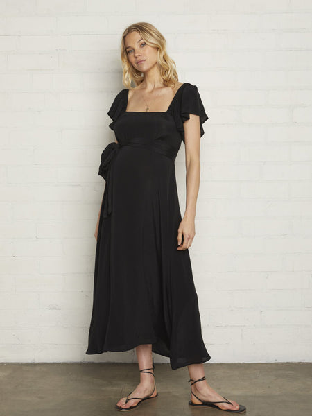 Rachel Pally Crepe Sibil Dress - Black | TILDEN
