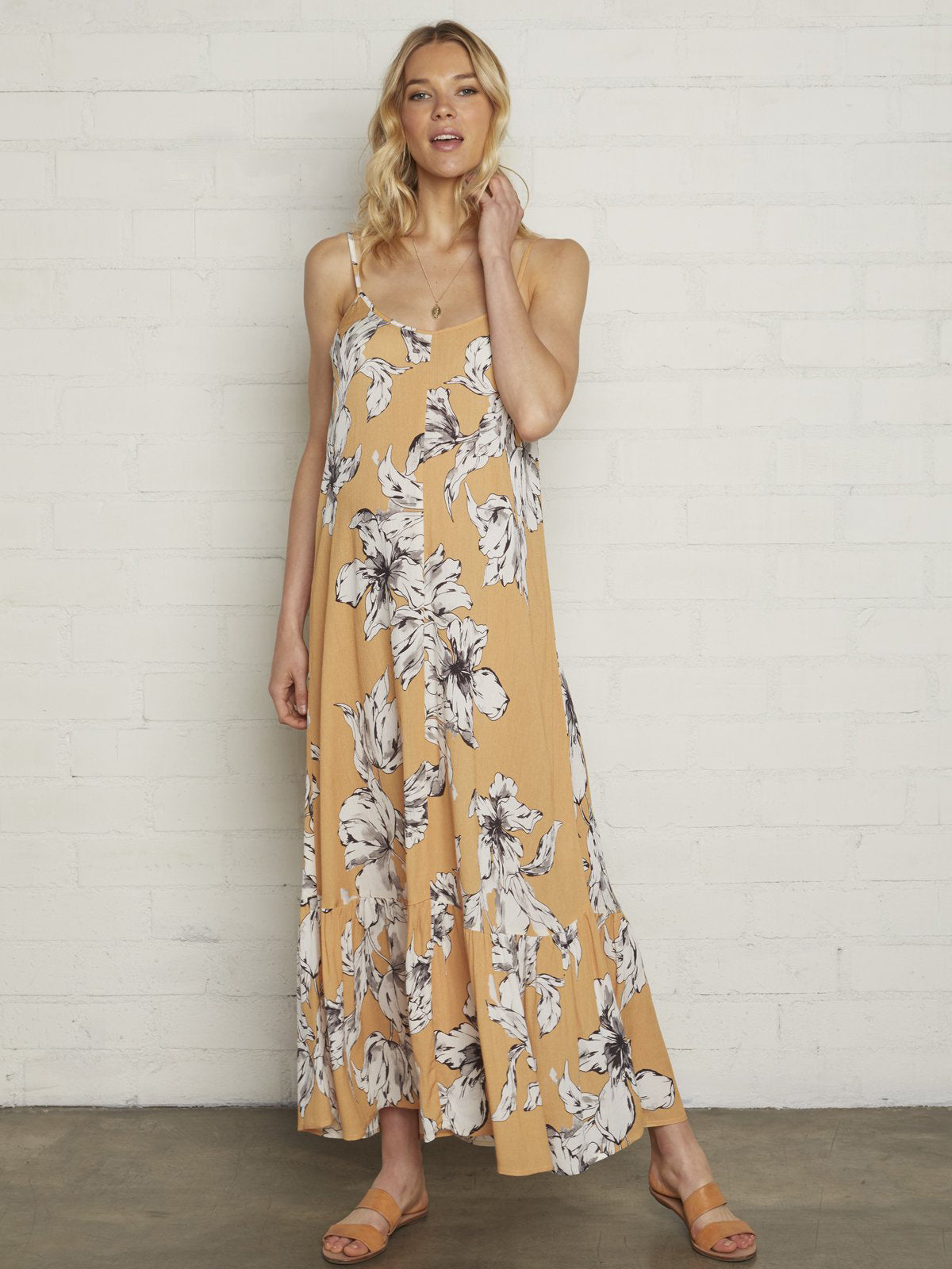 Rachel Pally Maternity Cilla Maxi Dress - Provence Yellow Floral Print | TILDEN