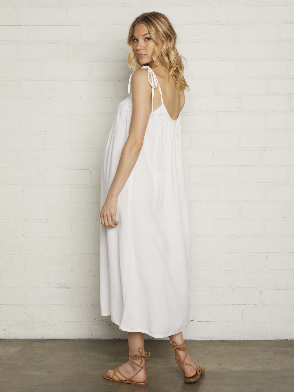 Rachel Pally Maternity Linen Caity Dress - Chalk White | TILDEN
