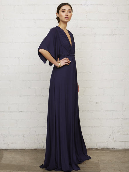 Rachel Pally Maternity Long Caftan Maxi Dress Cove Navy Blue | TILDEN
