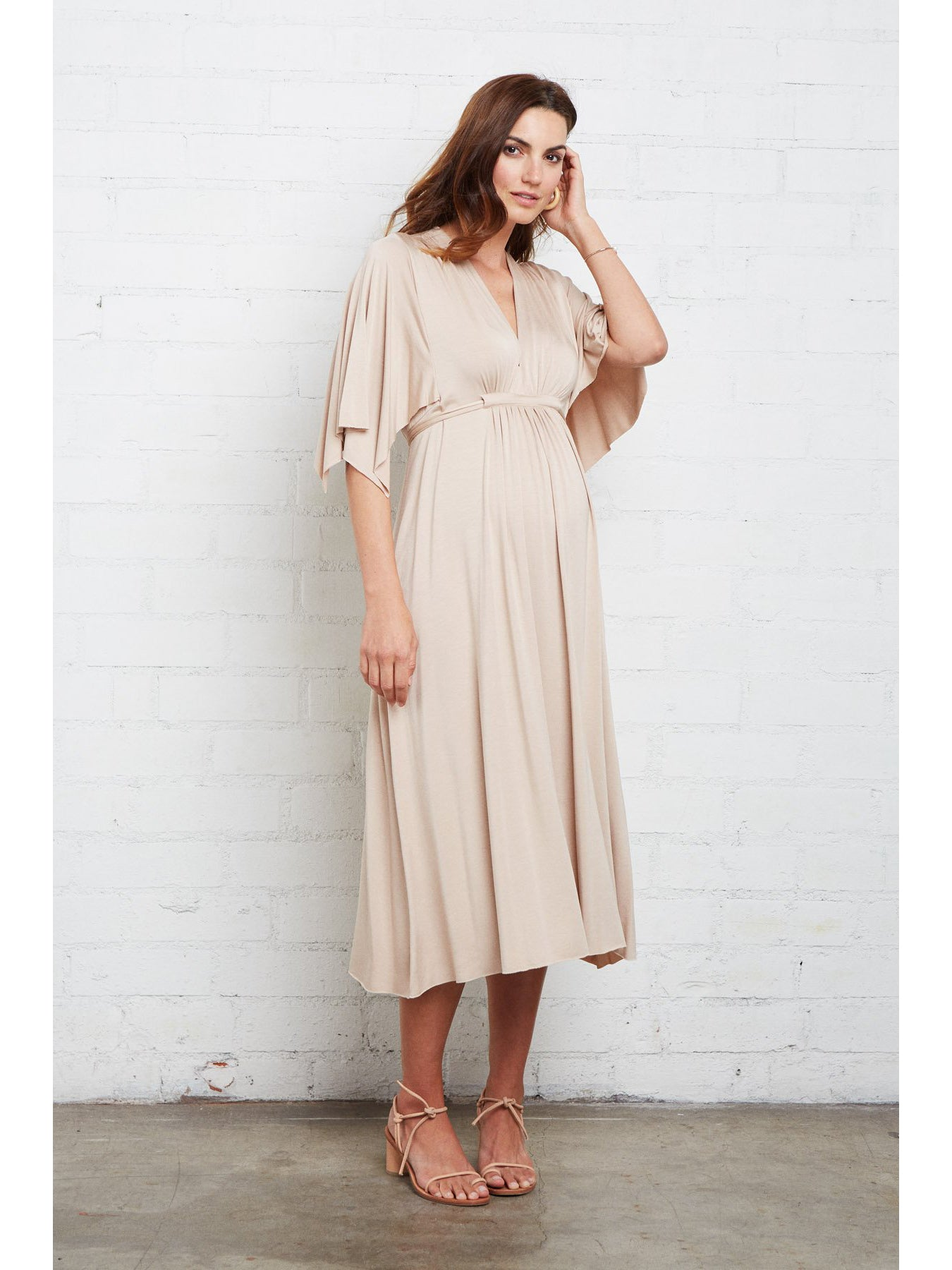 Rachel Pally Maternity Mid-Length Caftan Midi Dress - Bamboo | TILDEN