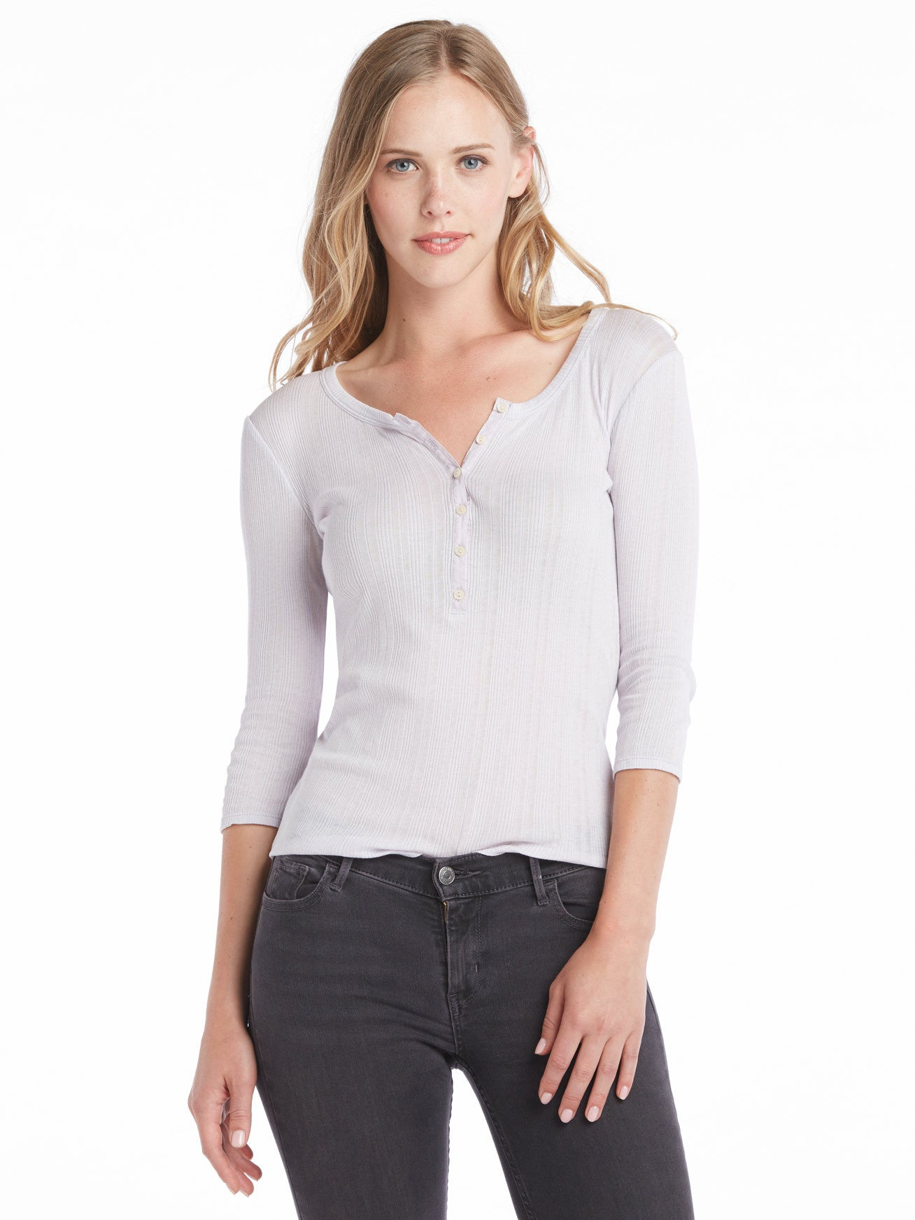 TILDEN | Rebecca Taylor Long Sleeve Mini Rib Henley