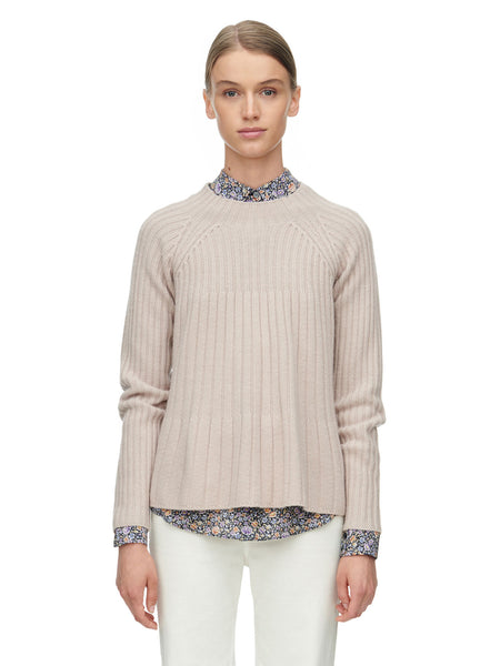 Rebecca Taylor Ribbed Swing Pullover Sweater | TILDEN
