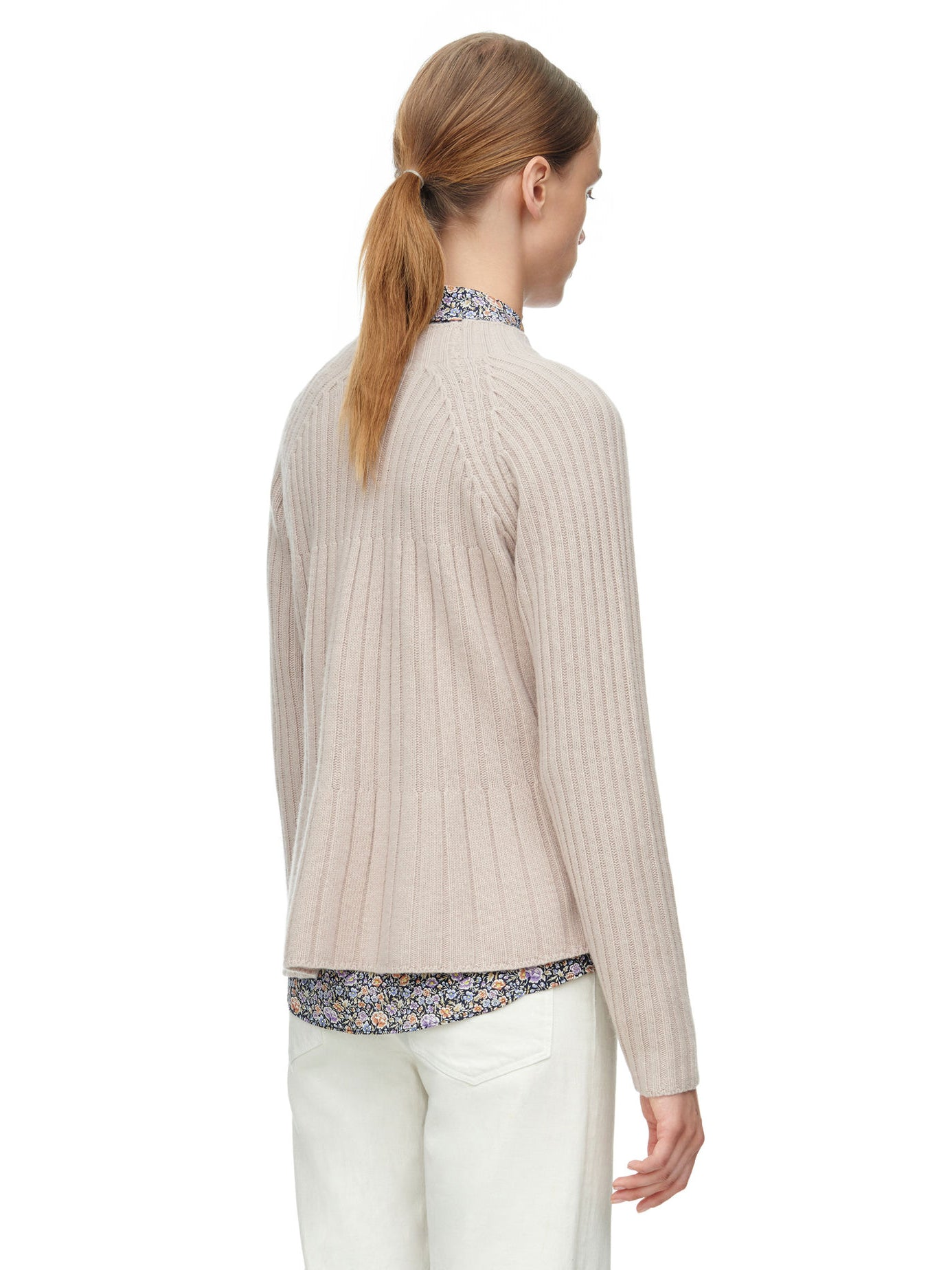 TILDEN | Rebecca Taylor Ribbed Swing Pullover Sweater