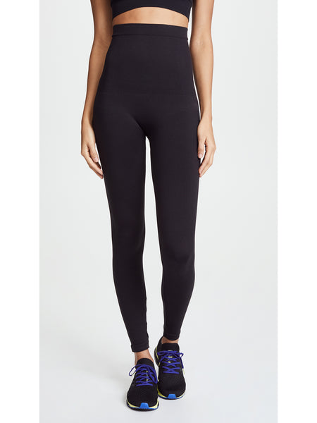 SPANX Look at Me Now Seamless High Waisted Leggings - Very Black | TILDEN