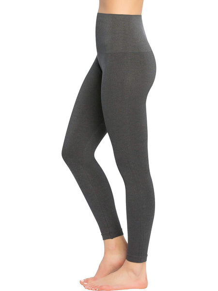 SPANX Look at Me Now Seamless Leggings - Charcoal Heather Grey | TILDEN