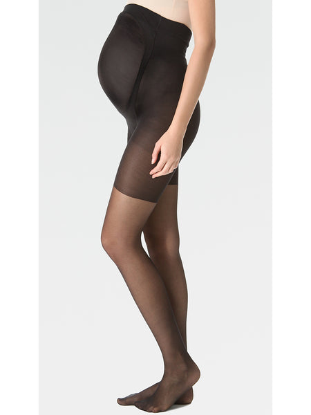 SPANX Power Mama Maternity Shaper Tights - Sheer Black Pantyhose | TILDEN