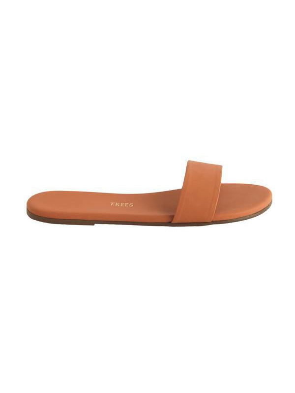 TKEES Alex Slides - Terra Cotta Leather Sandals | TILDEN