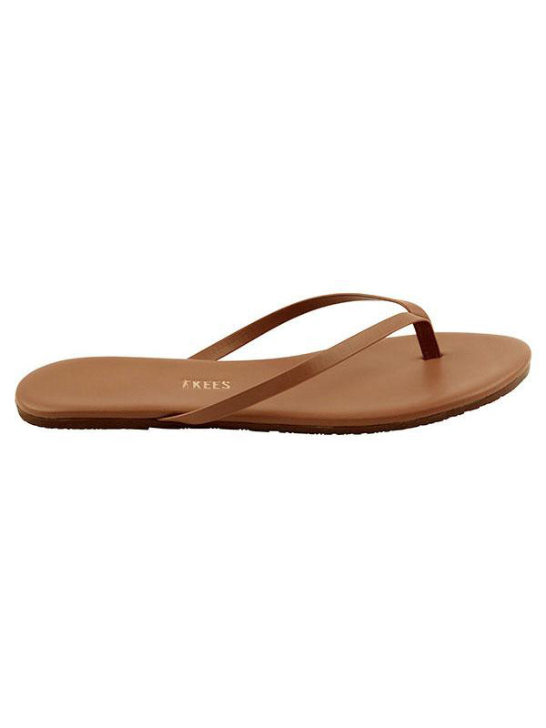 TKEES Lily Foundations Nude Leather Sandals - Heat Wave | TILDEN