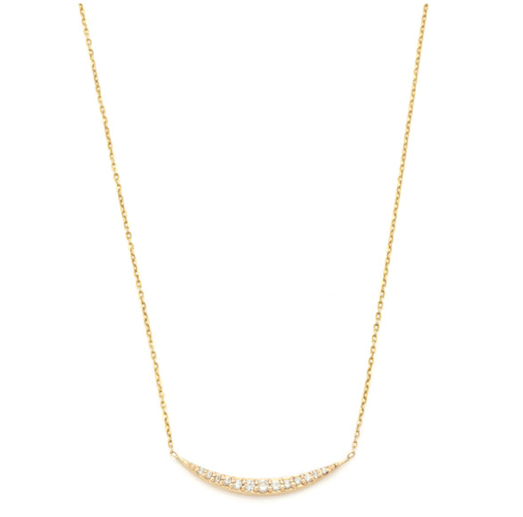 Vale Pavé Crescent Necklace | TILDEN