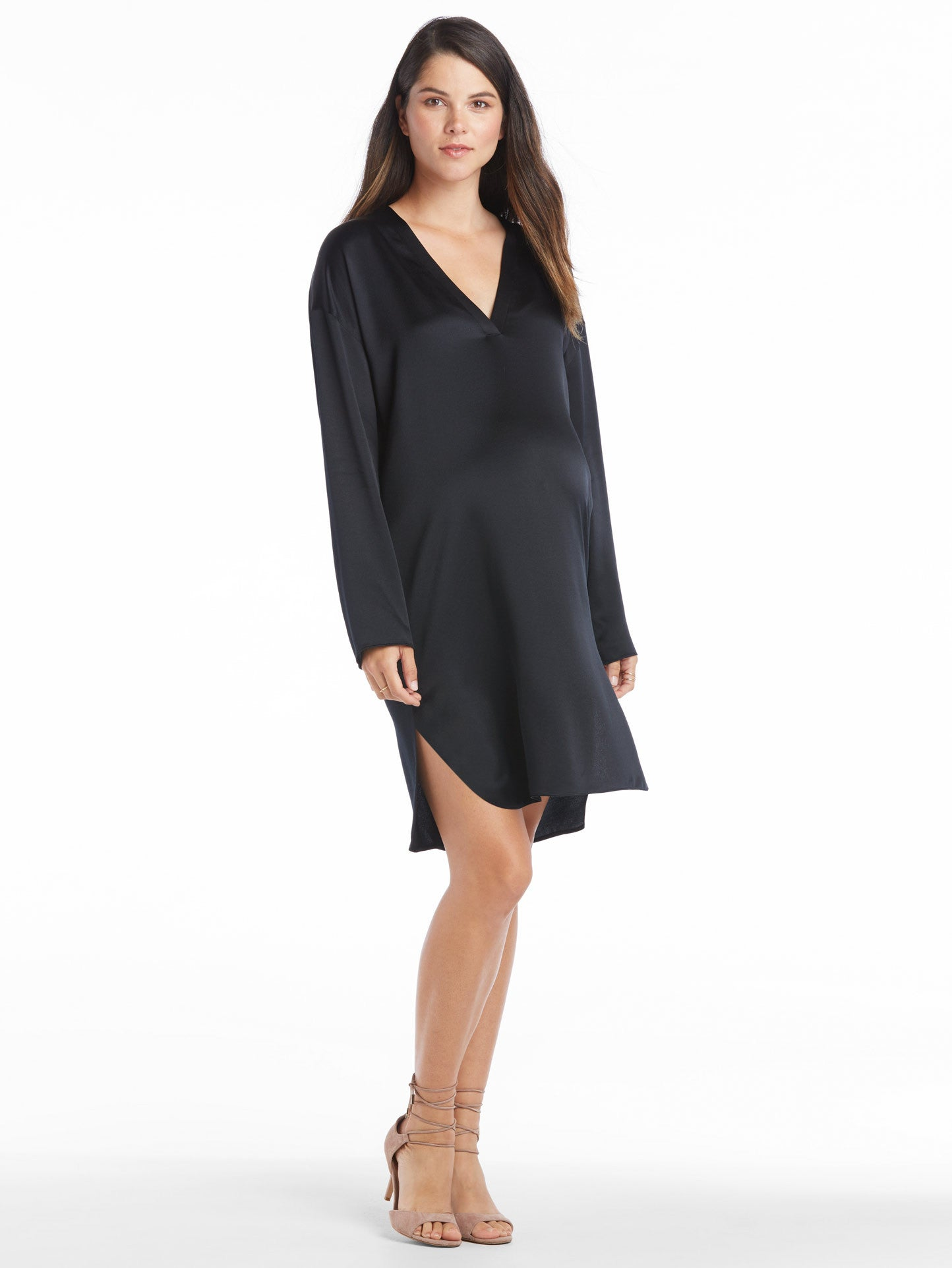 TILDEN | Vince Satin V-Neck Tunic Dress