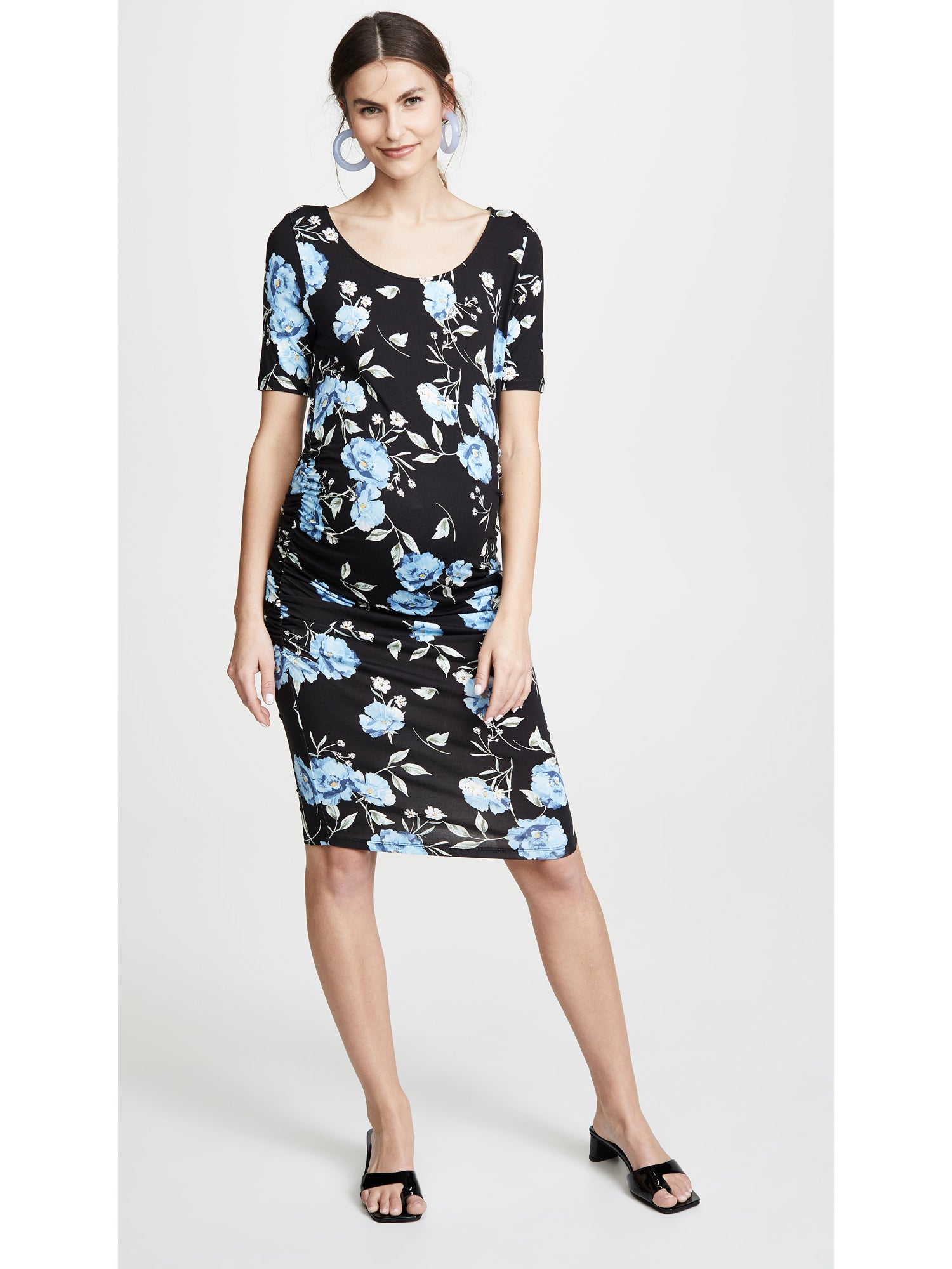 Yumi Kim Blossom Maternity Dress - Moonlight Bay Floral Print | TILDEN