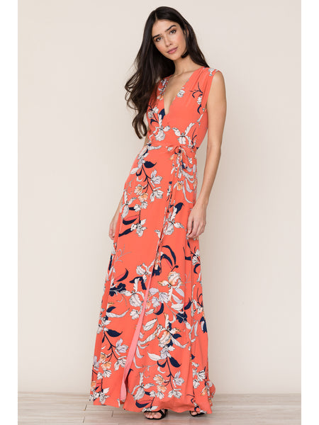 Yumi Kim Swept Away Maxi Dress - Orchid Blush Coral | TILDEN