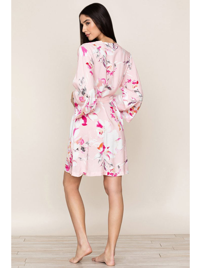 Yumi Kim Dream Lover Floral Kimono Robe - Love Is In The Air Pink Cameo | TILDEN
