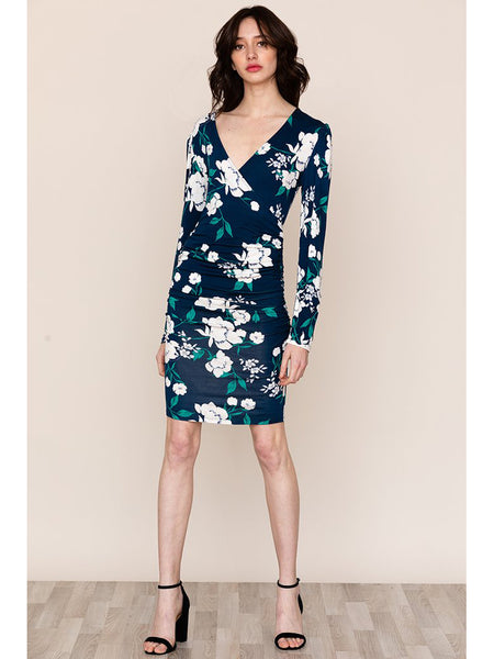 Yumi Kim Notting Hill Dress - Lucky Charm Navy Blue Floral | TILDEN