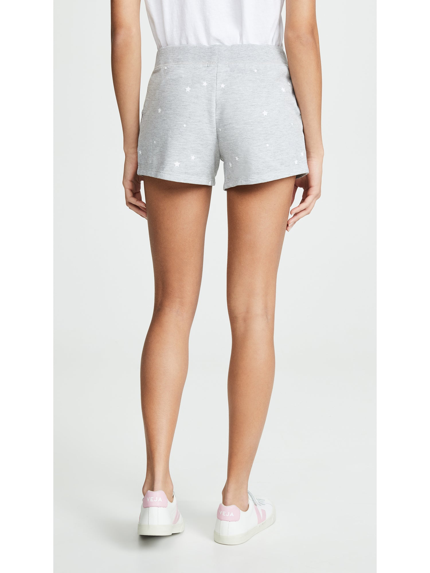 Z Supply Stardust Boyfriend Shorts - Heather Grey Star Print | TILDEN