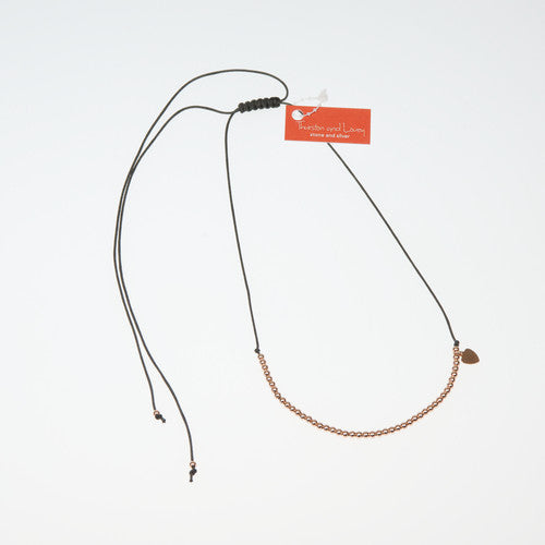 SHANNON SILK STRING STERLING SILVER NECKLACE