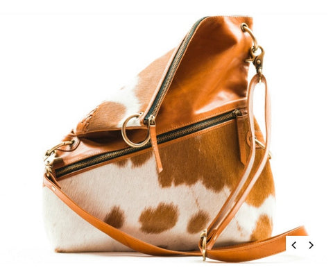 Frankie Jersey Hair-on Leather 3 way bag