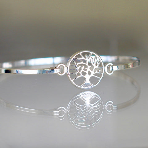 Ailsa Sterling Silver Tree of Life Bangle