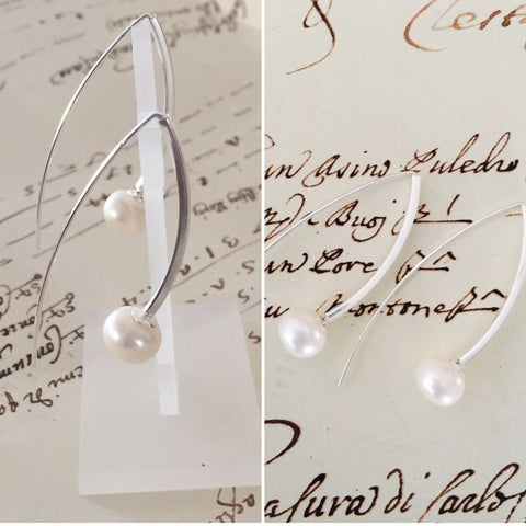 Bae Freshwater Pearl Hook Earrings